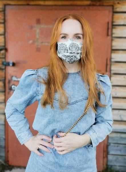 Samiskinsipirert ansiktsmaske